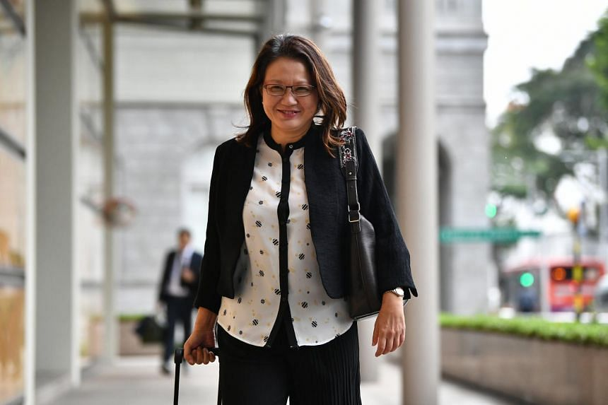 Workers' Party chairman Sylvia Lim arriving at the Supreme Court on Oct 18, 2018.