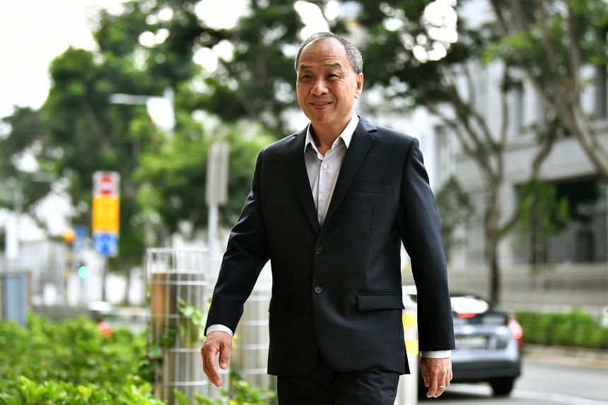 Former Workers' Party chief Low Thia Khiang arriving at the Supreme Court on Oct 18, 2018.