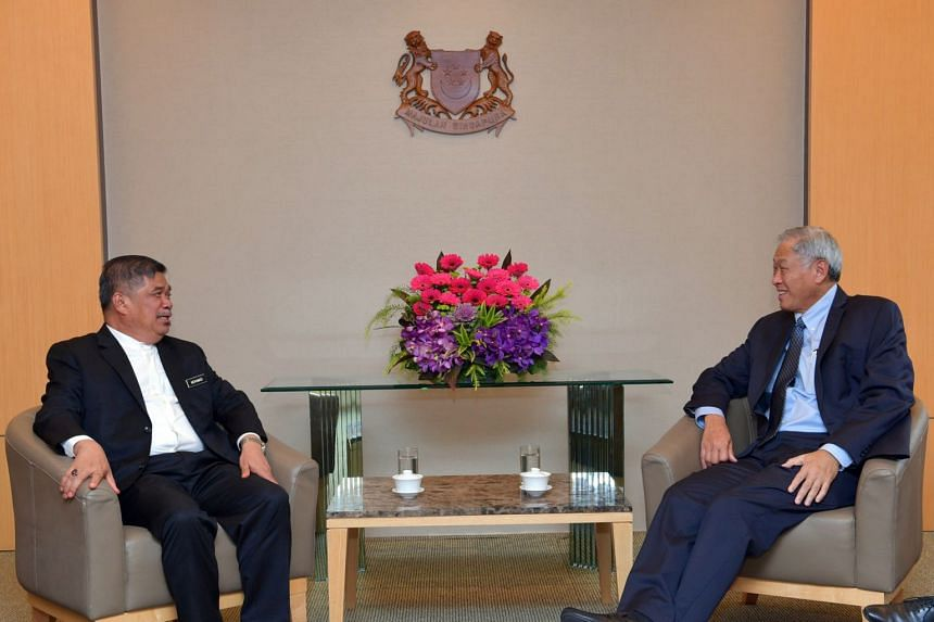 Malaysia Defence Minister Mohamad Sabu called on Defence Minister Ng Eng Hen in his introductory visit on Oct 18, 2018.