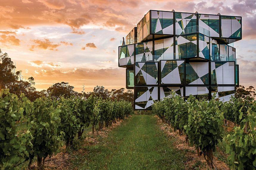 D'Arenberg Cube in McLaren Vale. PHOTO: TOURISM AUSTRALIA