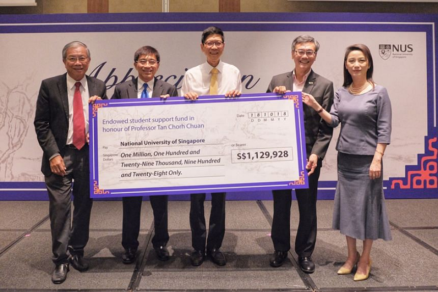 The National University of Singapore started the fund to recognise Professor Tan Chorh Chuan's years of dedicated service and outstanding contributions, during his tenure as the university's president.