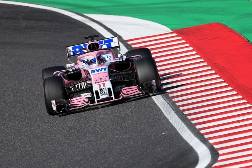 Perez in action during the Japanese Grand Prix.