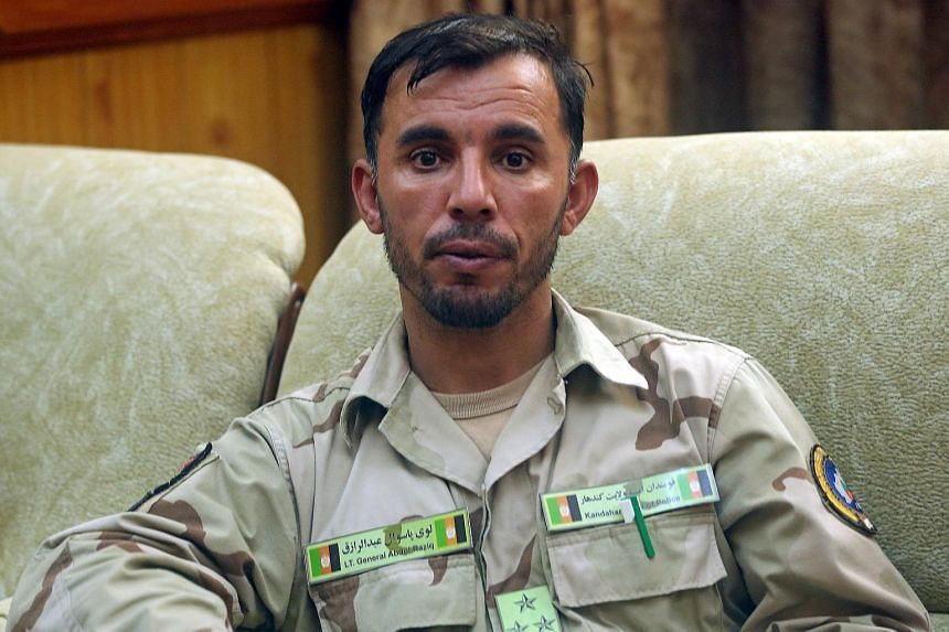 General Abdul Razeq was killed outside the governor's office in the southern province on Oct 18.
