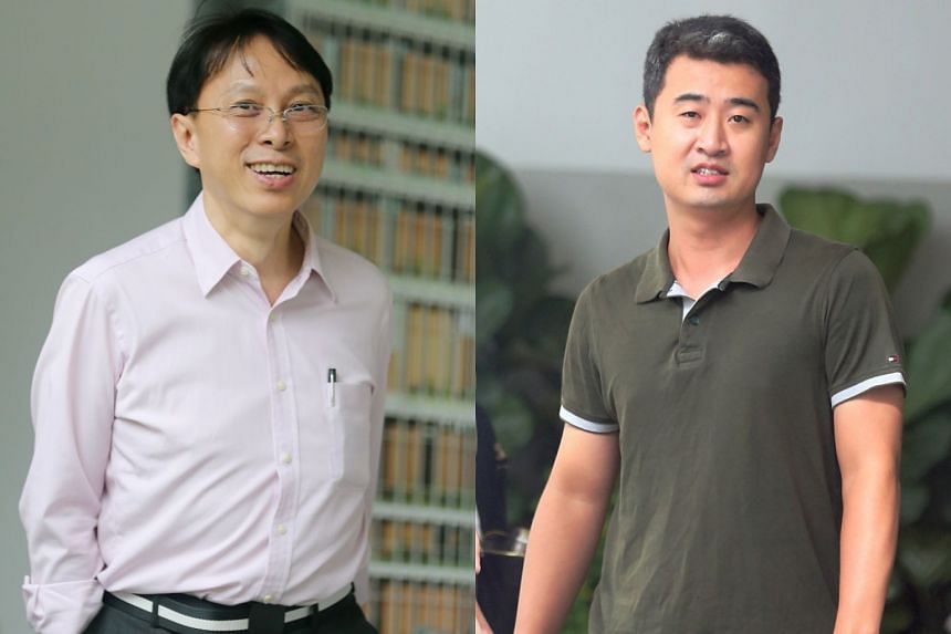 Chong Hock Yen (left) faces 43 counts of being involved in a conspiracy to illegally supply goods such as jewellery and watches clad in precious metals. His alleged accomplice, North Korean Li Hyon, faces 14 counts.