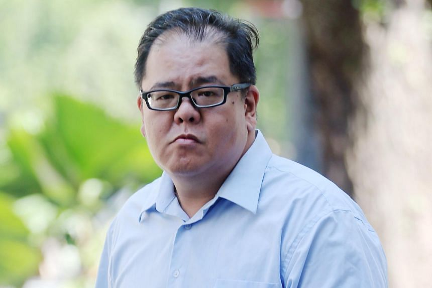 """Seah Chin Peng (above) is now on trial after he was charged with committing mischief by intentionally damaging the walking stick belonging to Mr Zeng Guoyuan, who is better known as """"Parrot Man""""."""