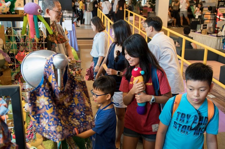 A file photo from FestivalForGood 2017. More than 80 social enterprises from Singapore and the region will offer hands-on workshops, talks, a retail marketplace, food and live performances at this year's event.