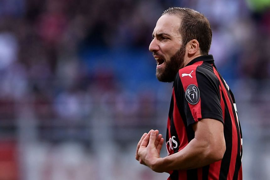 AC Milan striker Gonzalo Higuain moved to Milan on loan in August after two seasons in Turin.