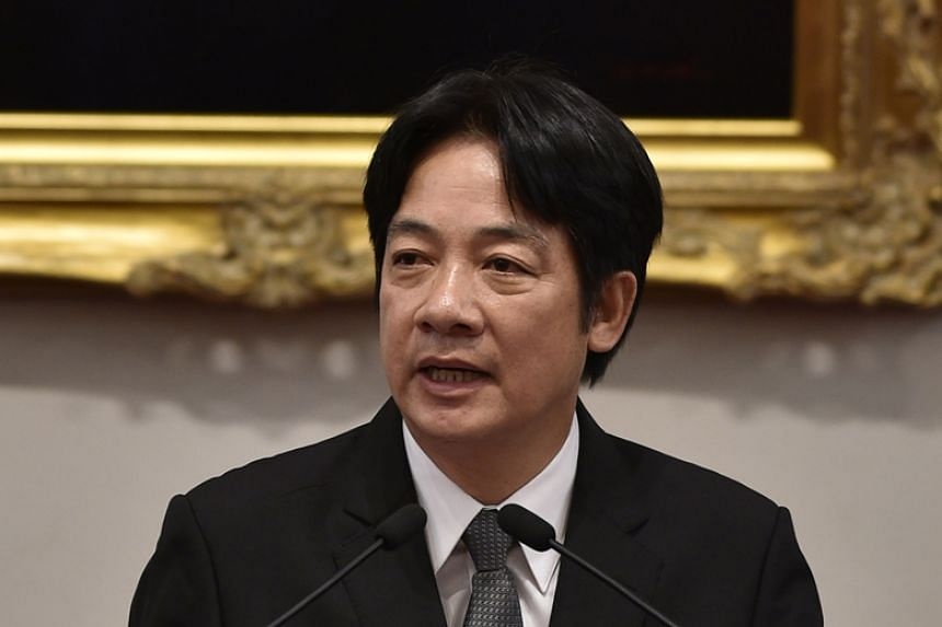"""Taiwan's Premier William Lai described China's behaviour towards Taiwan as """"arrogant and high-handed""""."""