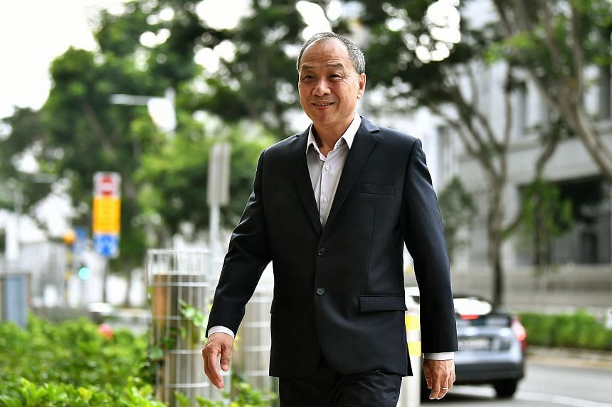 Former Workers' Party chief Low Thia Khiang arriving at the Supreme Court, on Oct 18, 2018.