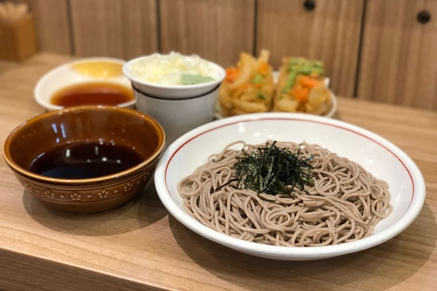 At Tokyo Soba in Tanjong Pagar, soba is freshly made every morning. The shop is an offshoot from Yomoda Soba in Japan.