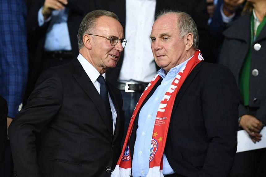Bayern Munich bosses Karl-Heinz Rummenigge (left) and Uli Hoeness (right) launched a fierce attack on the German media amid a rare four-match winless streak for the Bundesliga champions.
