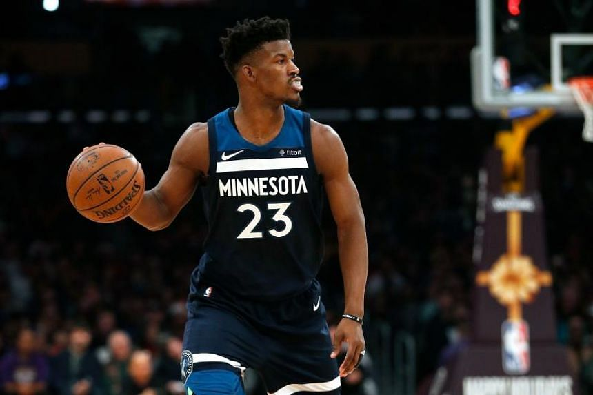 Jimmy Butler requested a trade before finally reporting for the start of his final season before he hits free agency.