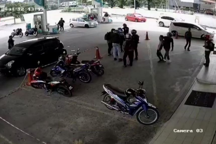 The petrol station worker was assaulted by a group of men on Oct 6, 2018.