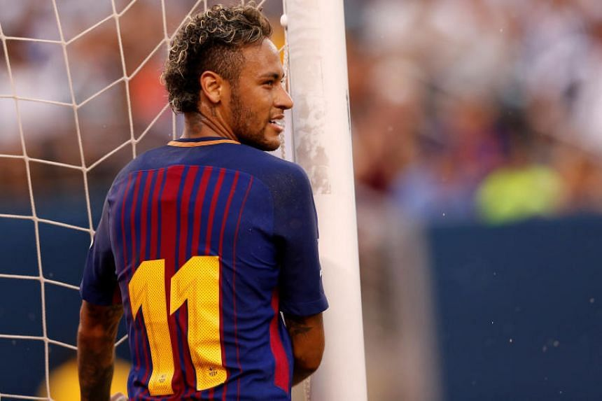 Neymar won two LaLiga titles and the 2015 Champions League in four years with Barcelona.