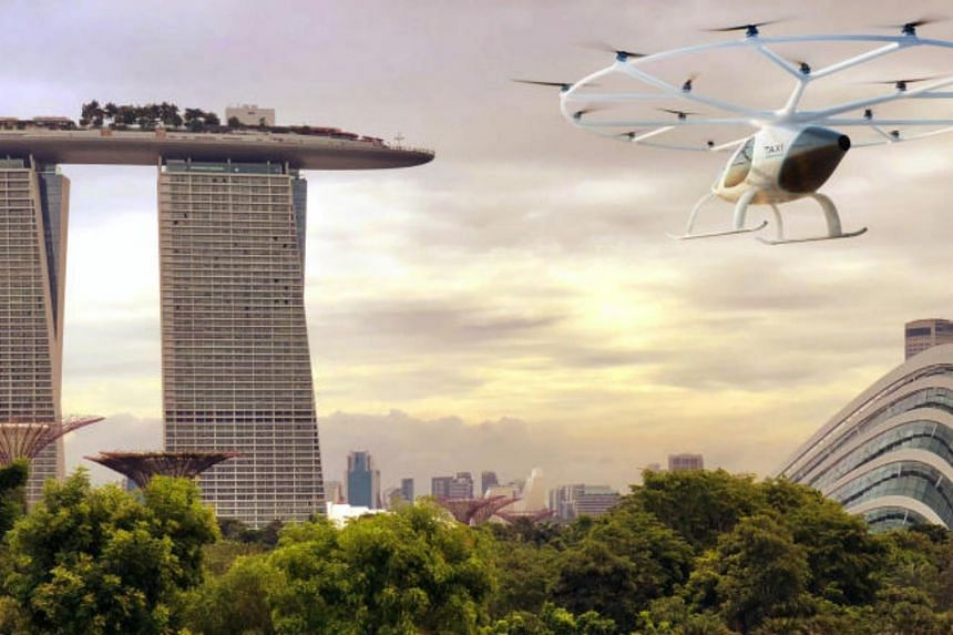 The flight tests are designed to validate and verify the ability of German aviation start-up Volocopter's air taxis to operate in Singapore's urban environment.