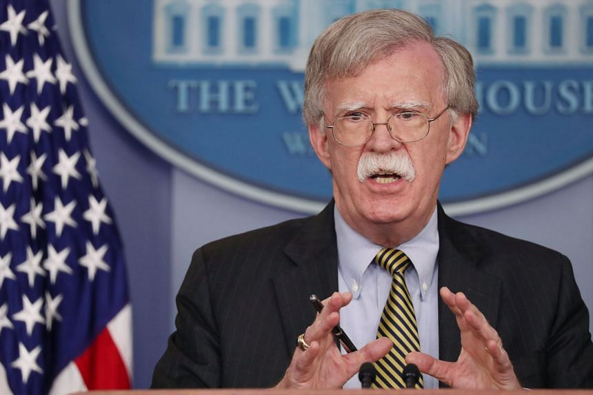 Bolton (above) announced the visit to Moscow in a tweet.
