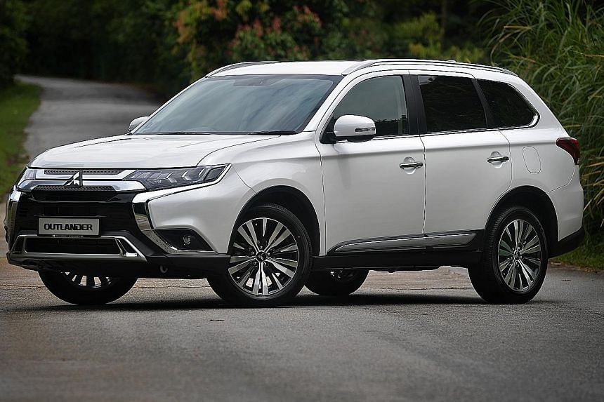 The Mitsubishi Outlander is reasonably responsive when driven leisurely, but requires its continuously variable transmission to pile on engine speed relentlessly at the slightest hint of exertion.