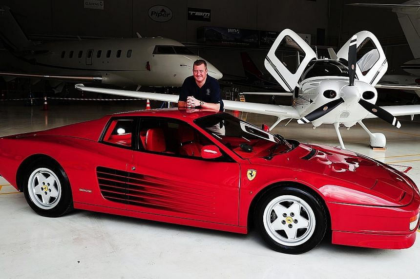 Mr Jan Ralph bought the Ferrari Testarossa last year after seeing it advertised on used-car portal sgCarMart. The multi-hyphenate entrepreneur is also an avid recreational pilot and enjoys flying the Cirrus SR22 Generation 6 light aircraft (above) to Mala