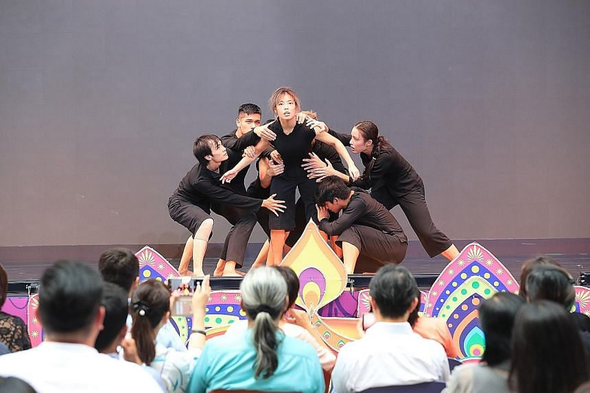 A dance performance at the launch of the National Arts Council's Our SG Arts Plan at Our Tampines Hub yesterday.