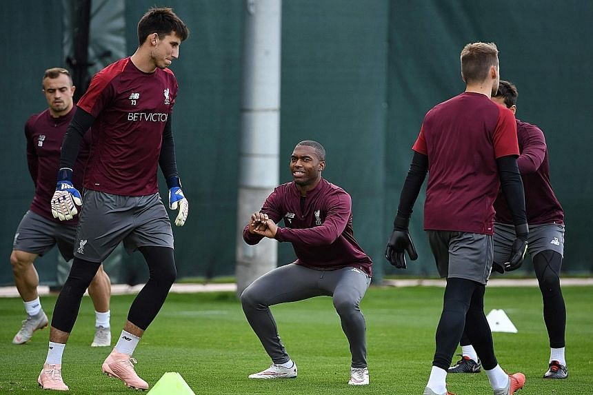 Liverpool striker Daniel Sturridge (centre), who had been plagued by injury since his move to Merseyside in 2013, is hoping to add to his four-goal tally this season.