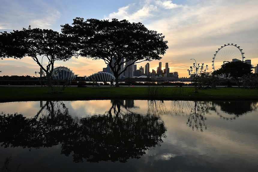 Founders' Memorial Committee chairman Lee Tzu Yang said the memorial is meant to unify all Singaporeans. A view of Bay East Garden, where the memorial will be located. It will capture the values and ideals that have made Singapore what it is.