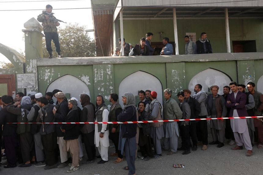 A polling station in Kabul on Oct 20, 2018.