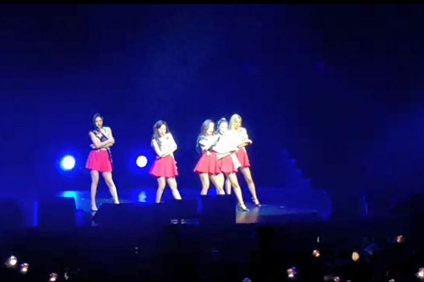 Red Velvet perform at their first Singapore concert at The Star Theatre, on Oct 20, 2018.