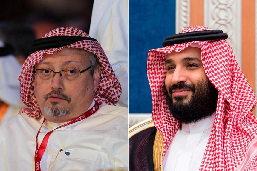 Crown Prince Mohammed bin Salman (right) has denied any knowledge of journalist Jamal Khashoggi's fate.