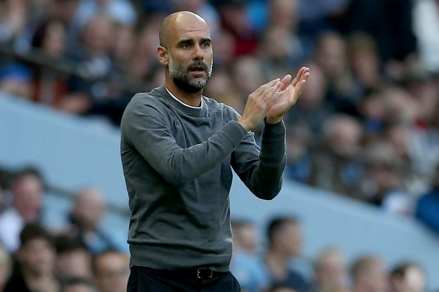 Manchester City's manager Pep Guardiola during the match.