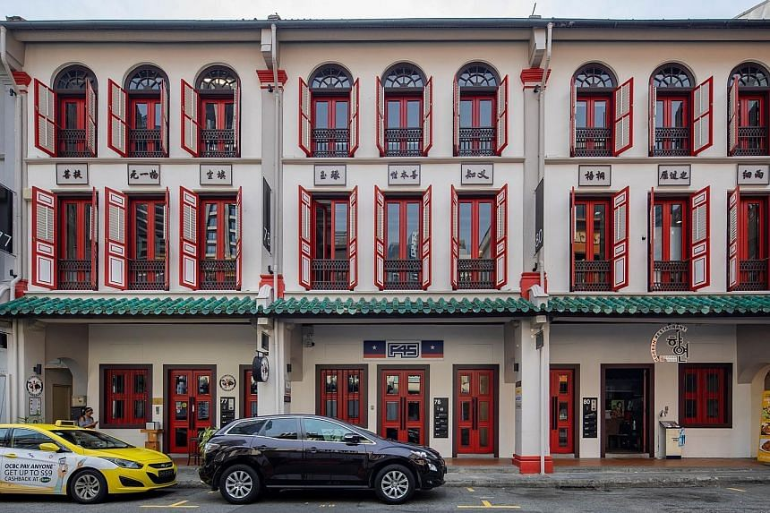 Shophouses in the Central Business District are popular with buyers due to their prime locations. A pair of conservation shophouses in Amoy Street with 14,641 sq ft total gross floor area was recently launched at $3,415 psf.
