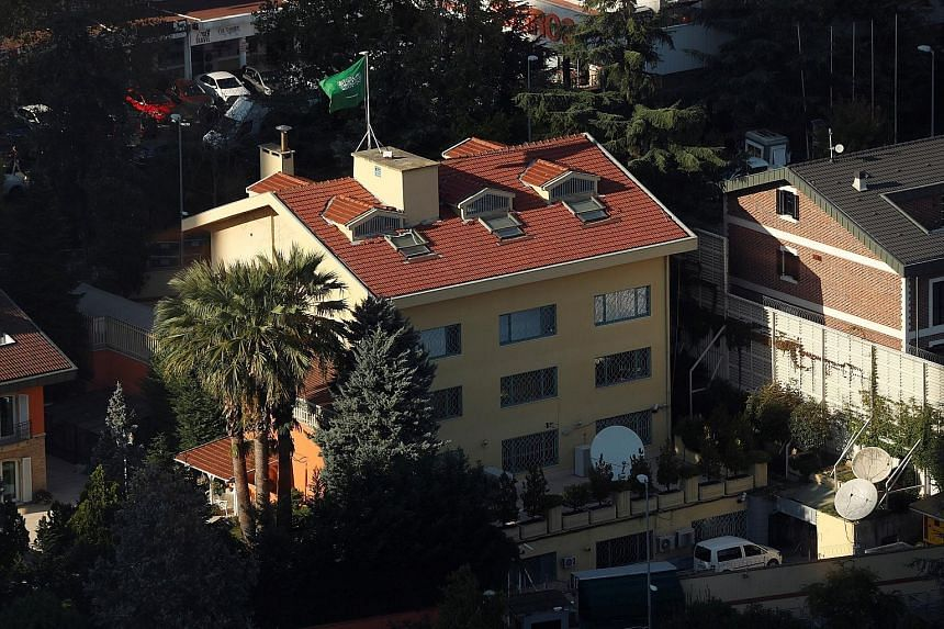 Mr Jamal Khashoggi died after talks at the Saudi consulate in Istanbul degenerated into an altercation, says Riyadh. Saudi Arabia's consulate in the Levent district of Istanbul, Turkey. Mr Jamal Khashoggi vanished after entering the consulate on Oct