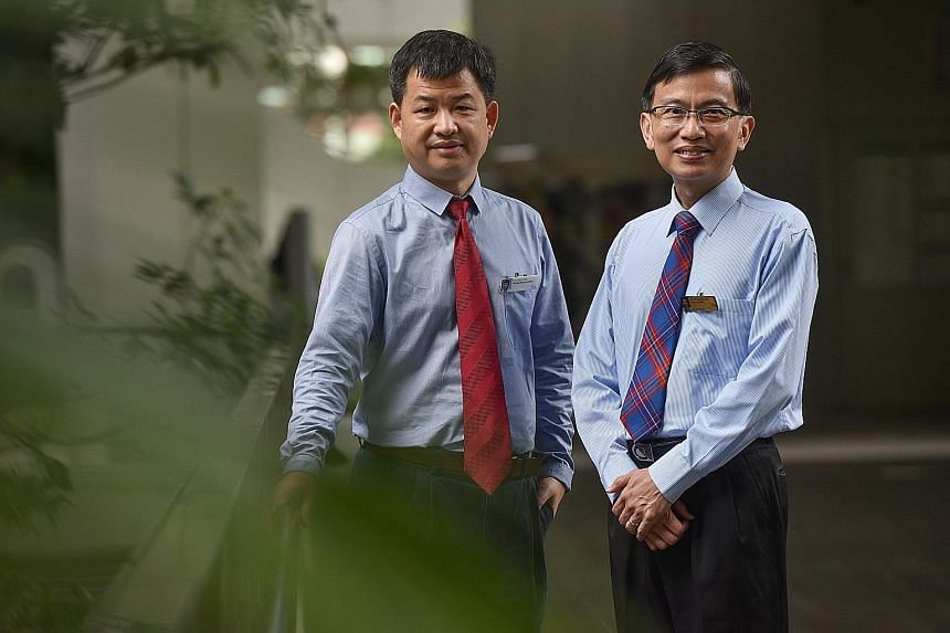 Associate Professor Lim Su Chi (with glasses) and Dr Liu Jianjun are behind the study of almost 1,200 patients here.