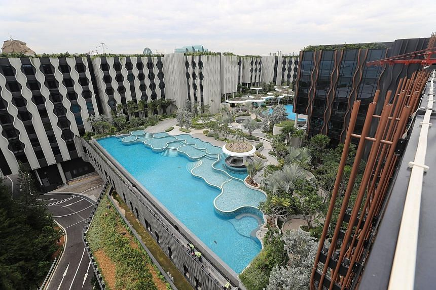 Two hotels by Far East Hospitality - Village Hotel and The Outpost Hotel - will open in a 45,000 sq m area off Palawan Beach in the first quarter of next year. A third hotel in the same compound - the Barracks Hotel - will open in the third quarter.