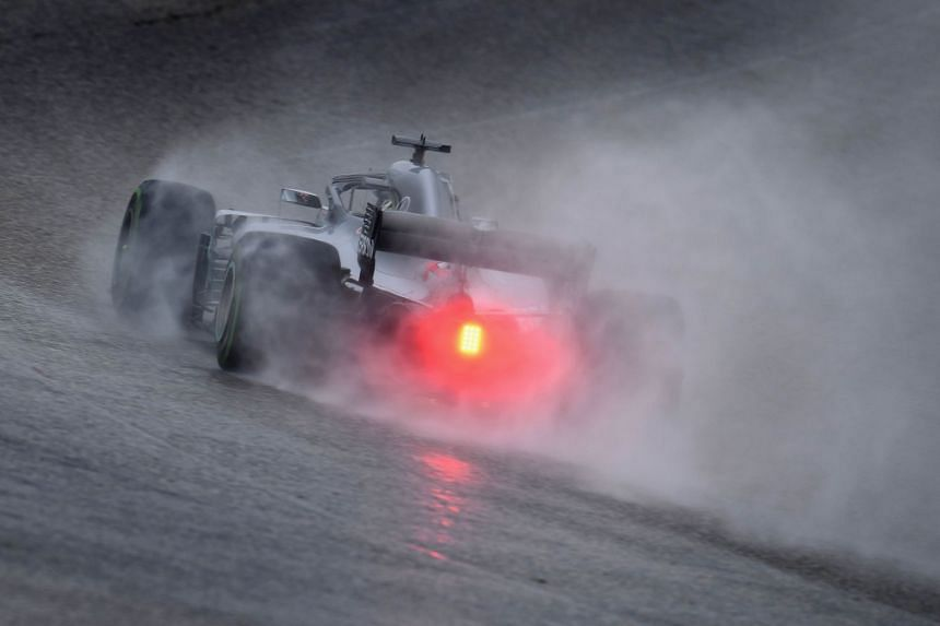 Britain's Lewis Hamilton in action during practice for the United States Grand Prix.