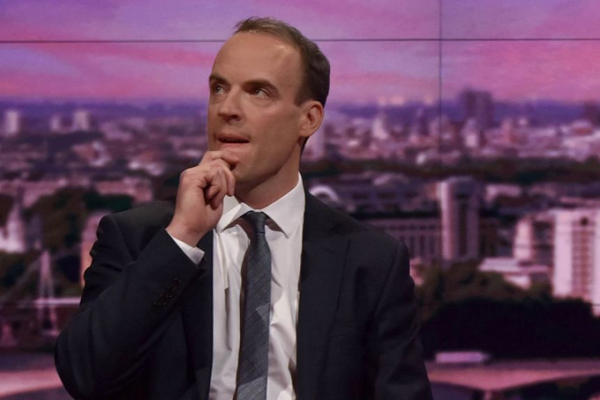 "Britain's Brexit minister Dominic Raab told BBC he is ""open minded about using a short extension of the implementation period""."