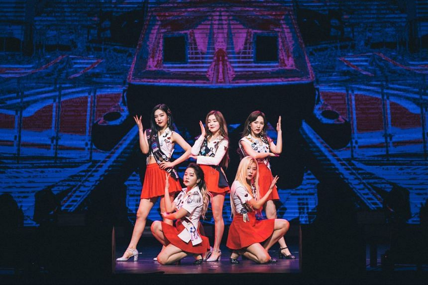 K-pop girl group Red Velvet opening their first solo concert in Singapore at The Star Theatre on Oct 20, 2018.