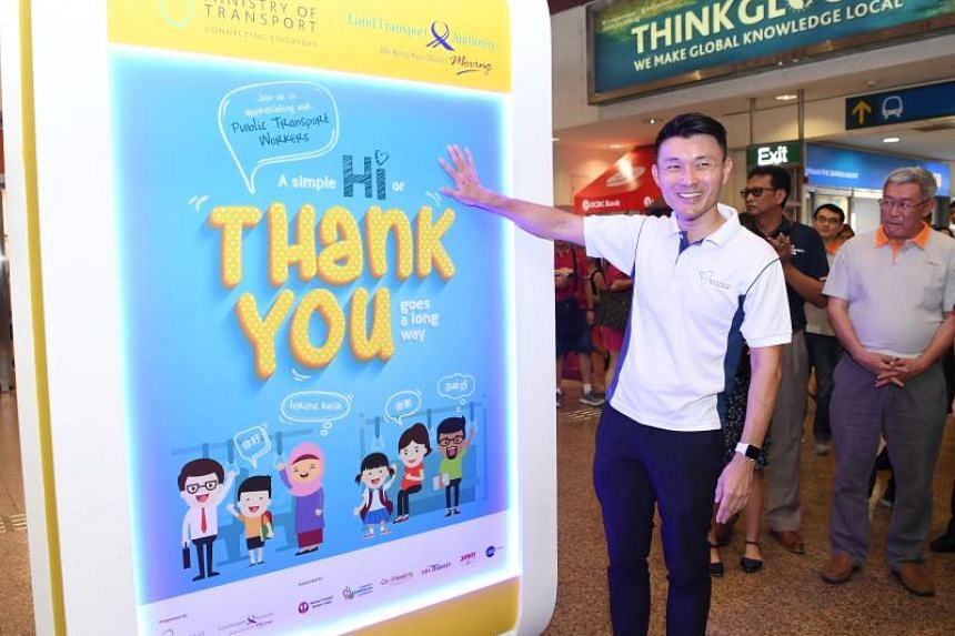 Tampines GRC Baey Yam Keng hopes people will make it a habit to express their appreciation all year round, and not just for the campaign's one-month duration.