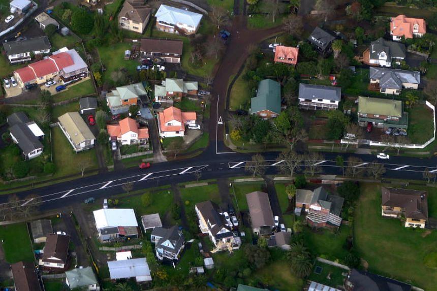 Residential houses in a suburb of Auckland, New Zealand, on June 24, 2017.