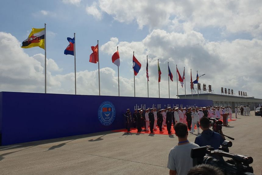 Representatives from 10 Asean countries and China attended the opening ceremony of the Asean-China Maritime Field Training Exercise at Zhanjiang, China, on Oct 22.