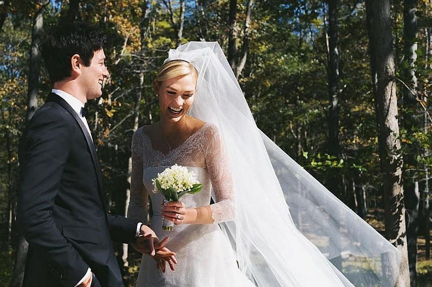 Runway supermodel Karlie Kloss has walked down the aisle with Mr Joshua Kushner (both above). The couple got married last Thursday in a simple ceremony in upstate New York. The groom, 33, whose brother, Jared, is married to United States President Do