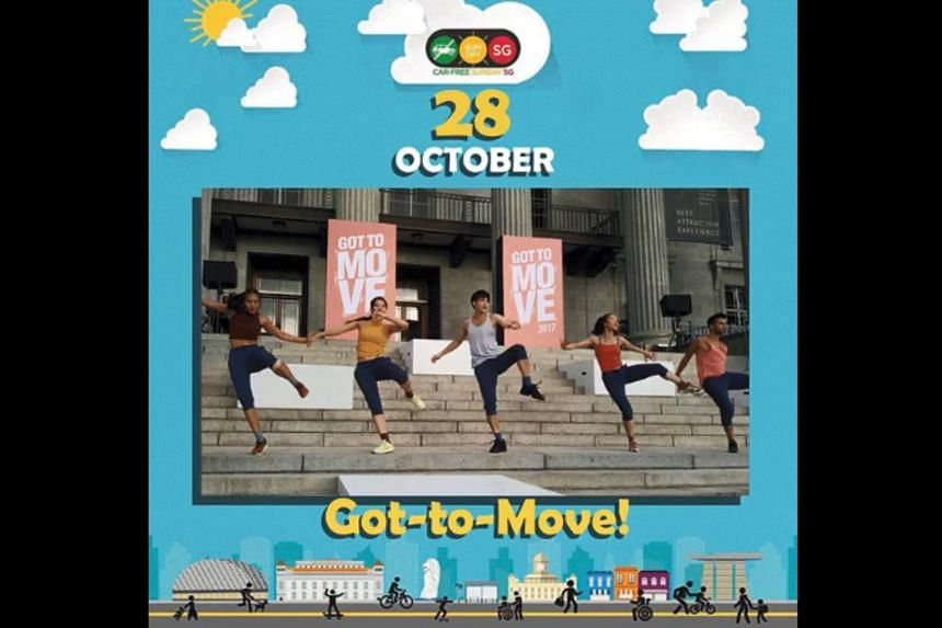 Singapore's first Car-Free Weekend event will start on Oct 26, 2018, with the closure of Telok Ayer Street and Amoy Street between 11am and 3pm.