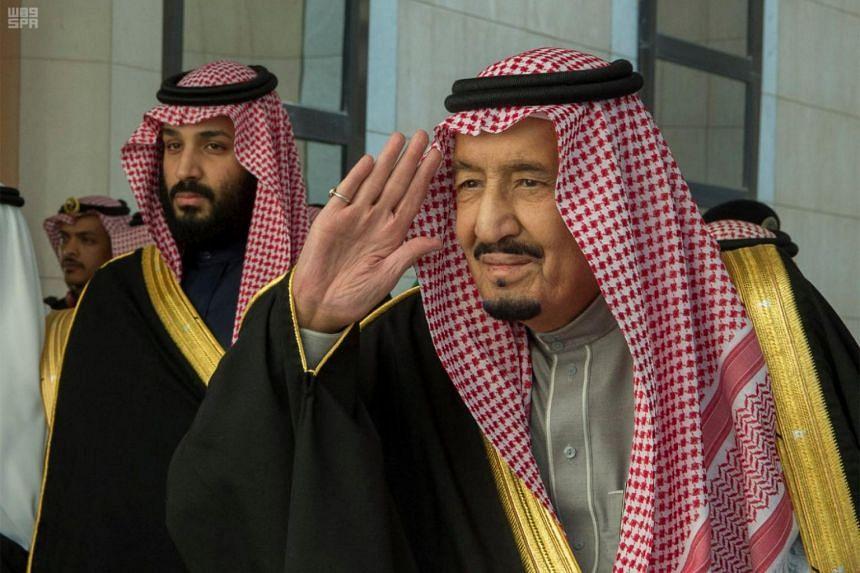 Saudi Arabia's King Salman bin Abdulaziz Al Saud (right) and Crown Prince Mohammed bin Salman bin Abdulaziz expressed their condolences in separate telephone calls to Mr Jamal Khashoggi's son.