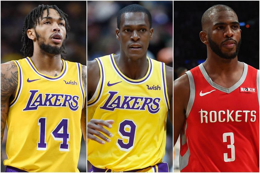 66bb857a1ae (From left) Los Angeles Lakers  Brandon Ingram was suspended for four games  while