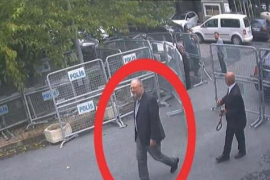 CCTV footage shows Saudi journalist Jamal Khashoggi at the Saudi consulate in Istanbul on Oct 2, 2018.