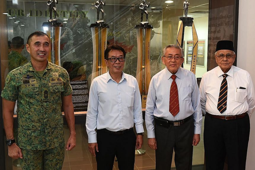 From left: CWO Ng Siak Ping, CWO (Ret) Joseph Koa, Capt (Ret) Hong Seng Mak and Capt (Ret) Shamsudin Shadan have extra reason to be proud, with challenge trophies named after them.