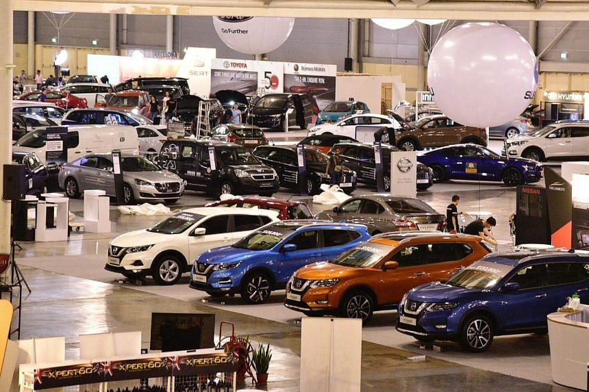 File photo of Singapore Press Holdings' automotive event Cars @ Expo that was held on Oct 28, 2017.