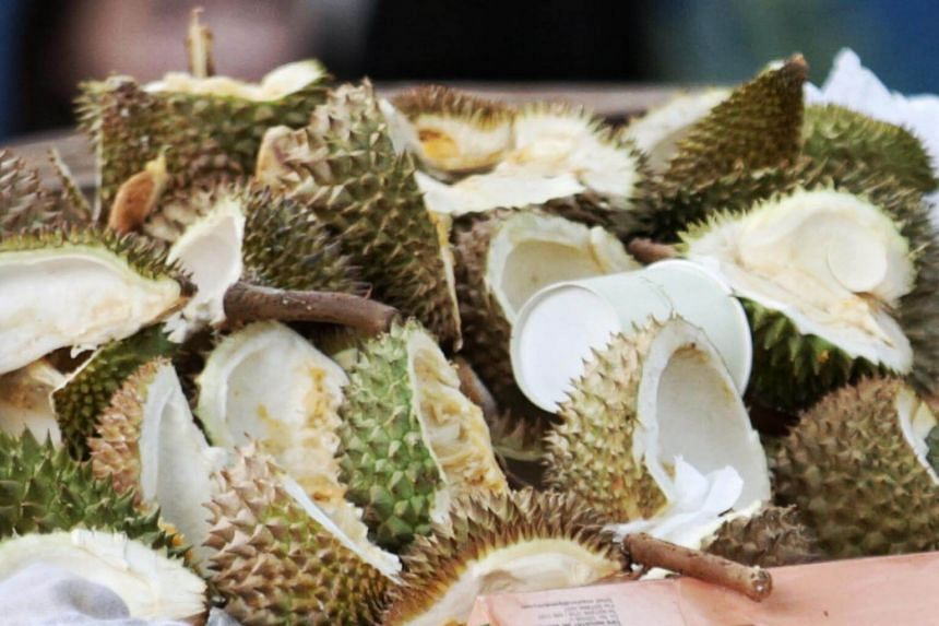 A generic picture of durian husks. Durian tourism in Raub has led to a boom in business and socioeconomic activities but also an increase in traffic jams and a strain on water supply.