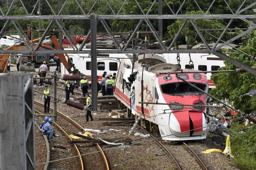 Initial investigations had pointed to speeding as causing the express train Yu was driving from Taipei to the coastal county of Taitung to careen off the tracks in Yilan, on Oct 21, 2018.