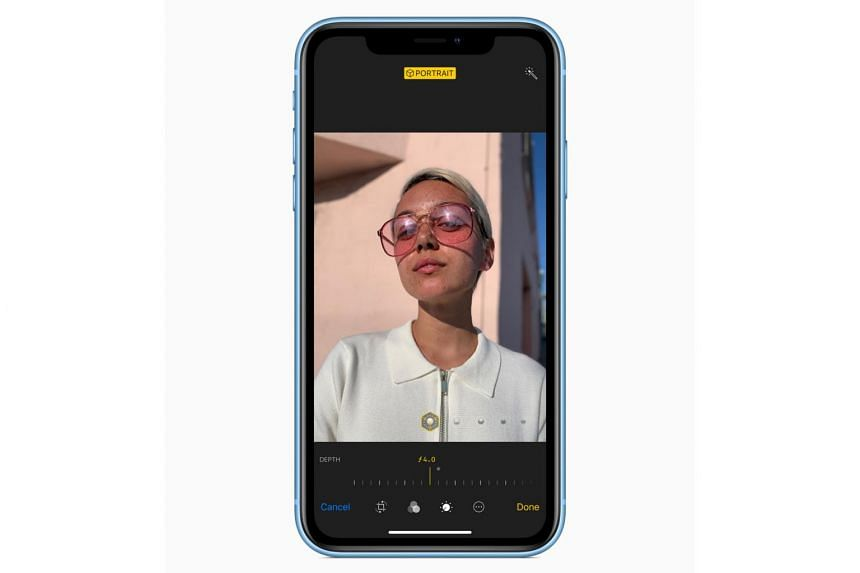 The iPhone XR does not have an extra rear telephoto camera like the flagships, with only a single rear 12-megapixel wide-angle camera.