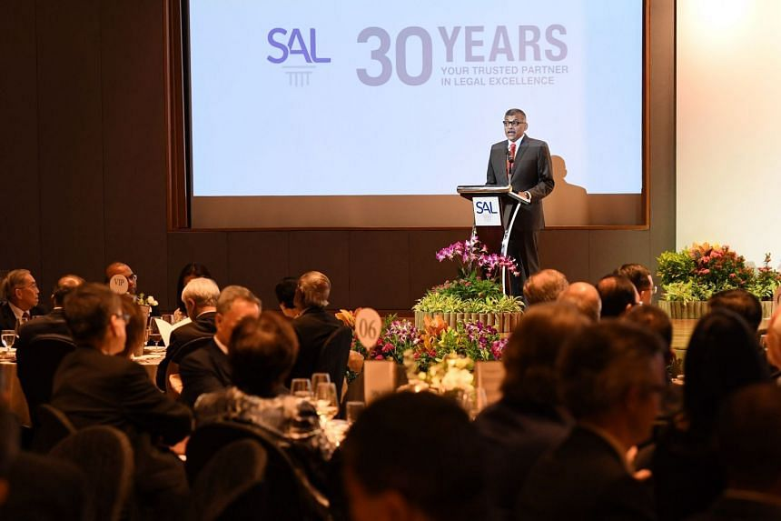Chief Justice Sundaresh Menon launched the Venture Capital Investment Model Agreements during the Singapore Academy of Law's 30th anniversary dinner on Oct 23, 2018.